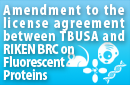 License agreement between Clontech and RIKEN BRC on Fluorescent Proteins
